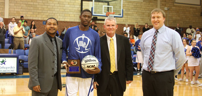 Jenkins honored for scoring 1,000th career point