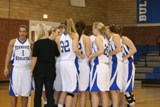 Lady Bulldogs huddle before the game