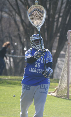 Brandon Scott had 20 saves against Stonehill