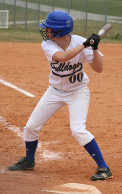 Brooke Ward went 1 for 3 with a run scored in the first game, and 3 for 4 with two singles and a double in the 2nd