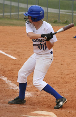 Brooke Ward had 4 hits and a RBI in the first game