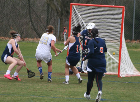 Tess Sasse scores one of her 2 goals, she also had 2 assists