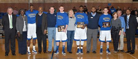 Seniors-Isaiah Kirk, Paul Harper, Quincy Scates, and Jesse Booher