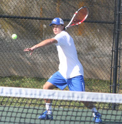 Bartos Micher won two singles matches and two doubles matches with Tanner Stancil over the weekend